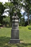 Άγαλμα του Thomas Moore από το Central Park στο της περιφέρειας του κέντρου Μανχάταν από πόλη της Νέας Υόρκης στις Ηνωμένες Πολιτ στοκ εικόνες