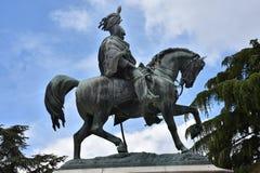 Άγαλμα χαλκού Vittorio Emanuele στην Περούτζια στοκ εικόνα