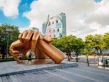 Άγαλμα ύφους Gangnam μπροστά από τη λεωφόρο coex την 1η Σεπτεμβρίου 2017 Στοκ Εικόνες