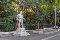 Άγαλμα Anhanguera μπροστά από το πάρκο Trianon στη λεωφόρο Paulista - Σάο Πάολο, Βραζιλία Στοκ φωτογραφία με δικαίωμα ελεύθερης χρήσης