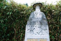 Άγαλμα Auguste Pavie σε Jardin Anglais σε Dinan Στοκ Εικόνες
