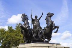 Άγαλμα Boadicea και οι κόρες της στο Λονδίνο Μεγάλη Βρετανία Στοκ εικόνες με δικαίωμα ελεύθερης χρήσης