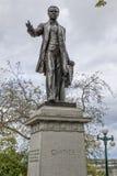 Άγαλμα Cartier στην πόλη Καναδάς του Κεμπέκ στοκ φωτογραφία