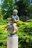 Άγαλμα Frantisek - ιδιότητες της πόλης Frantiskovy Lazne Franzensbad SPA - Δημοκρατία της Τσεχίας Στοκ Εικόνες