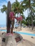 Άγαλμα Kahanamoku δουκών Στοκ Φωτογραφία
