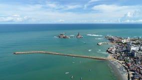 Άγαλμα Kanyakumari Thiruvalluvar άποψης θάλασσας, Ινδία στοκ φωτογραφία με δικαίωμα ελεύθερης χρήσης