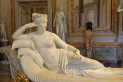 Άγαλμα Pauline Bonaparte από το Antonio Canova σε Galleria Borghese Στοκ Εικόνες