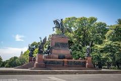 Άγαλμα SAN Martin στο γενικό SAN Martin Plaza σε Retiro - το Μπουένος Άιρες, Αργεντινή Στοκ εικόνες με δικαίωμα ελεύθερης χρήσης