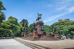 Άγαλμα SAN Martin στο γενικό SAN Martin Plaza σε Retiro - το Μπουένος Άιρες, Αργεντινή Στοκ Εικόνες