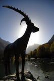 άγαλμα steinbock στοκ φωτογραφία