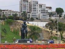 Άγαλμα αγάπης στην ακτή Chorrillos Στοκ εικόνα με δικαίωμα ελεύθερης χρήσης