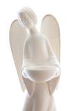 Άγαλμα αγγέλου αργίλου που απομονώνεται στο λευκό Στοκ Εικόνες