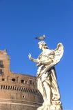 Άγαλμα αγγέλου με το γλάρο, Castel Sant ` Angelo, Ρώμη, Ιταλία Στοκ φωτογραφία με δικαίωμα ελεύθερης χρήσης