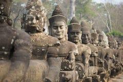 Άγαλμα αγγέλου σε Angkor Wat Στοκ Φωτογραφίες