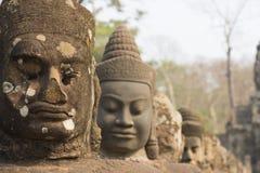 Άγαλμα αγγέλου σε Angkor Wat Στοκ Εικόνες