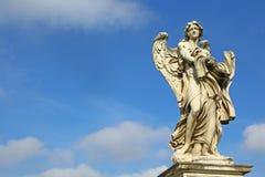 Άγαλμα αγγέλου σε Ponte Sant'Angelo, Ρώμη Στοκ Εικόνα