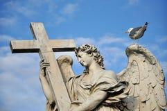 Άγαλμα αγγέλου στη γέφυρα Ponte Sant Angelo, Ρ Στοκ εικόνες με δικαίωμα ελεύθερης χρήσης