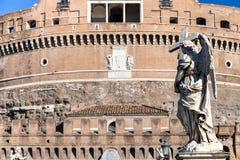 Άγαλμα αγγέλου στη γέφυρα Ponte Sant Angelo στη Ρώμη Στοκ φωτογραφία με δικαίωμα ελεύθερης χρήσης