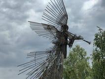 Άγαλμα αγγέλου στο Τσέρνομπιλ Στοκ Φωτογραφία