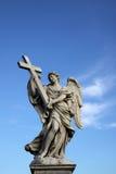 Άγαλμα αγγέλου στο Ponte Sant Angelo στη Ρώμη, Ιταλία Στοκ φωτογραφία με δικαίωμα ελεύθερης χρήσης