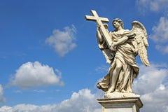 Άγαλμα αγγέλου Ponte Sant'Angelo, Ρώμη Στοκ Φωτογραφία