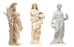 Άγαλμα αγγέλων που απομονώνεται Στοκ Εικόνα