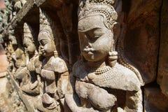 Άγαλμα ανακούφισης Apsara Στοκ Φωτογραφίες