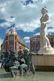 Άγαλμα απόλλωνα στο μέρος Massena στη Νίκαια, Γαλλία Στοκ Φωτογραφίες