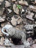 Άγαλμα αριθμού πετρών τεχνών τιγρών Στοκ εικόνες με δικαίωμα ελεύθερης χρήσης