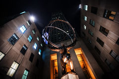 Άγαλμα ατλάντων στο κέντρο Rockefeller Στοκ φωτογραφίες με δικαίωμα ελεύθερης χρήσης