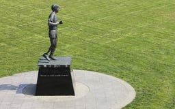 Άγαλμα αλεπούδων του Terry στο μίλι 0 πάρκο σε Βικτώρια Καναδάς Στοκ Φωτογραφίες
