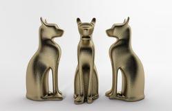 Άγαλμα γατών Στοκ Εικόνες