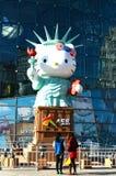 άγαλμα γειά σου του γατακιού Στοκ εικόνες με δικαίωμα ελεύθερης χρήσης