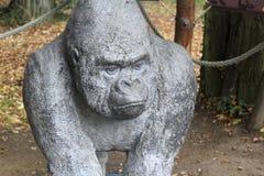 Άγαλμα γορίλλων Στοκ Εικόνες