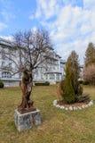 Άγαλμα γυναικών χαλκού στο πάρκο Κρύα ημέρα, καμία στο πάρκο, Στοκ φωτογραφίες με δικαίωμα ελεύθερης χρήσης