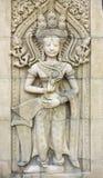 Άγαλμα γλυπτικών Apsara Στοκ φωτογραφίες με δικαίωμα ελεύθερης χρήσης