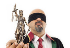 Άγαλμα εκμετάλλευσης δικαστών Στοκ φωτογραφία με δικαίωμα ελεύθερης χρήσης