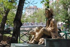 Άγαλμα ενός ατόμου και του σκυλιού του Στοκ Εικόνα