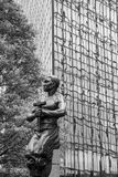 Άγαλμα εργαζομένων στο Σαρλόττα NC Στοκ εικόνα με δικαίωμα ελεύθερης χρήσης