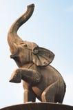Άγαλμα ελεφάντων στην πλατεία Jinhu Στοκ Εικόνες