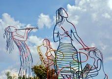 Άγαλμα ζωνών της Jazz Στοκ Εικόνες