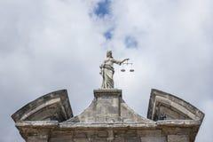 Άγαλμα δικαιοσύνης στο Δουβλίνο Στοκ εικόνα με δικαίωμα ελεύθερης χρήσης