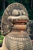 Άγαλμα λιονταριών στο πεζούλι των ελεφάντων, Angkor Thom, Siemreap Στοκ Εικόνες