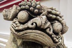 Άγαλμα λιονταριών στο wat po, Ταϊλάνδη Στοκ φωτογραφίες με δικαίωμα ελεύθερης χρήσης