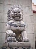 Άγαλμα λιονταριών της Κίνας με το μάρμαρο και την πέτρα Στοκ εικόνες με δικαίωμα ελεύθερης χρήσης