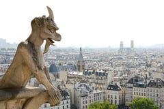 Άγαλμα καθεδρικών ναών της Notre Dame Στοκ Φωτογραφία
