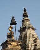 Άγαλμα και ναός Bhaktapur Meditating Στοκ Εικόνες