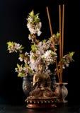 Άγαλμα και πέτρες του Βούδα zen Στοκ Εικόνες