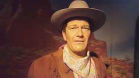 Άγαλμα κεριών του John Wayne απόθεμα βίντεο