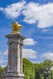 Άγαλμα Λα Renommee des Arts σε Pont Alexandre ΙΙΙ στο Παρίσι Στοκ εικόνες με δικαίωμα ελεύθερης χρήσης